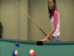 Amia Moretti fucks on pool table.