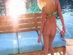 Shawna Lenee having more than a sun bath.