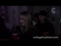 Cute teen scoring at a Party.