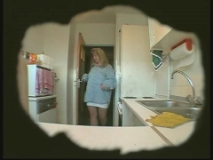 Caught on tape using kitchen tools.