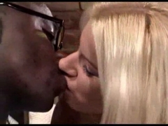 Blonde babe Fucks a horny black guy.