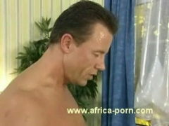 African girl fucks doggystyle and gets a facial.