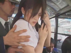 Asian girl gets fucked in a bus.