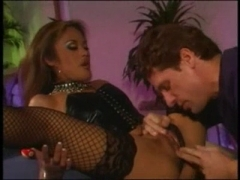 Hot babe in stockings gets fucked hard.