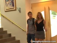 Busty piano teacher fucked by student.