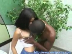 Charming Latina getting fucked by a black dude.