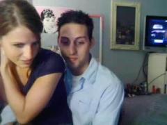 Young amateur couple having sex on cam.