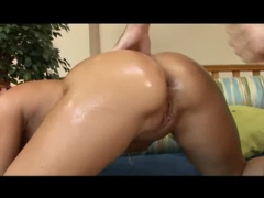 Oiled and ready for anal sex.