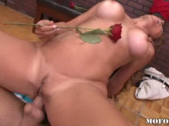 Big titted babe Monique Fuentes drilled by a guy     .