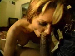 Black man and horny MILF in action.