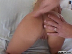 Amazing whore takes cock deep in her ass.