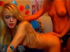 Russian teen on webcam with their toys