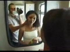 POV sex in a train.