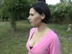 French Anal Sex outdoors.