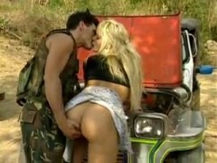 Anina Blonde gets fucked on a car