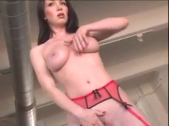 Rayveness wears lingerie then fucks.