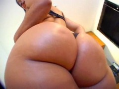Big fat latina ass takes a long black cock!.