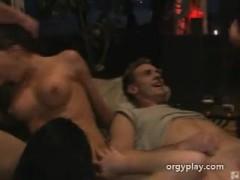 Orgy all holes fucked hard.