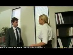 Divorced hot blonde gets abused hard in the ass by her ex-husband at work.