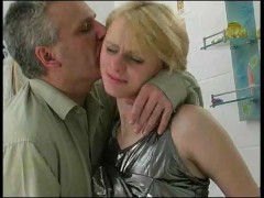 Hot Blonde Gives In To Daddy.