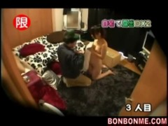 Horny japanese girl is nuded suddenly.