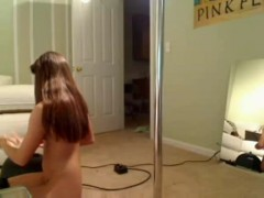 Fit teen rides sybian and deepthroats dildo.