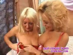 Milf and young blond part1.