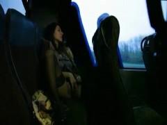 Wifey Masturbates on a Public Bus.