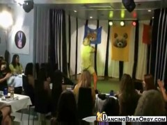 Dancing bear strippers perform for horny women.
