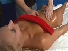 Teen fucked during massage.