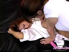 Asian girl in karate dress fingered stimulated and fucked wi.