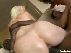 Lorelei and flower fuck two hard cocks.