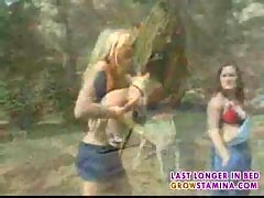 Blonde bitch in outdoor fuck-1.