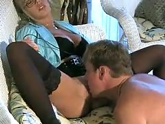 Hot Busty Blonde Cougar Amber Lynn Banged.