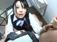 Asian Nylon Footjob.