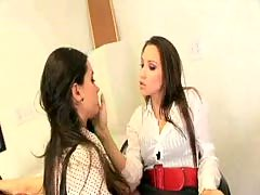 Girls in Love - The Lesbian Boss and her Secretary.