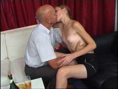 Horny old fucker with modest girl .