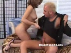 Hot brunette tan slut gets fucked