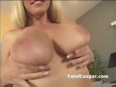 Amazing milf with natural big tits shows off banginb body in