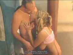 Big natural boobs blonde fucking the plummer