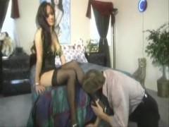 Asia Carrera fucked in stockings!