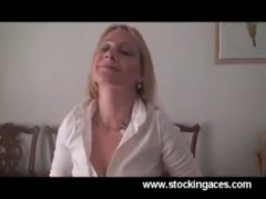 Horny Milf gets Back From Office