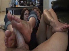 Mother Daughter Footjob #2 Daughter Teachin Mom