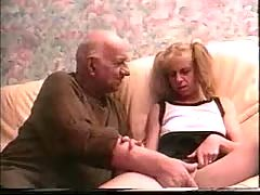 French Hooker Blowing Old Big Cock