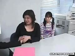 Japanese mother and daughter forced during interview
