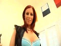 Marsha Lord in black stockings fucking sucking big cock