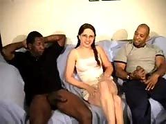 Lelani interracial gangbang