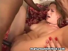 Mom handles big black cock....
