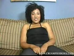 Daiquiri on creampie ebony