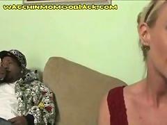 Mom sucks black dick
